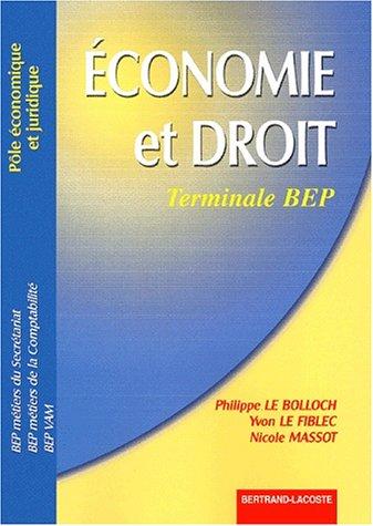 Economie et Droit Terminale BEP