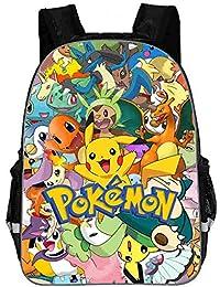 Pokemon Mochila Mochila Escolar Bolsa de Ordenador portátil Unisex Moda Mochila Bolsa de Viaje Portátil Mochila