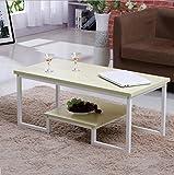 ETCY Tische Einfache Doppel-Schmiedeeisen Couchtisch Kreatives Wohnzimmer Büro Couchtisch Tee Tisch (Farbe : D)
