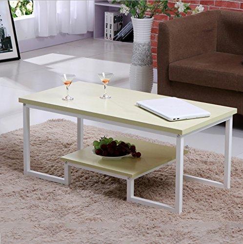 Preisvergleich Produktbild ETCY Tische Einfache Doppel-Schmiedeeisen Couchtisch Kreatives Wohnzimmer Büro Couchtisch Tee Tisch (Farbe : D)