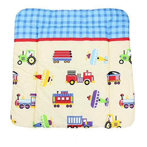 Wickeltischauflage Stoff Wickelauflage mit Baumwollbezug Waschbar Wickelunterlage 70 x 70 cm / 75 x 85 cm , Farbe: Muster 4, Größe: 75 x 85 cm