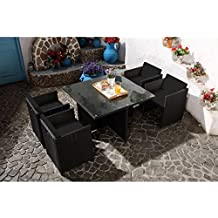 Amazon Salon De Jardin En Resine Tressee. Amazon Housse Table De ...