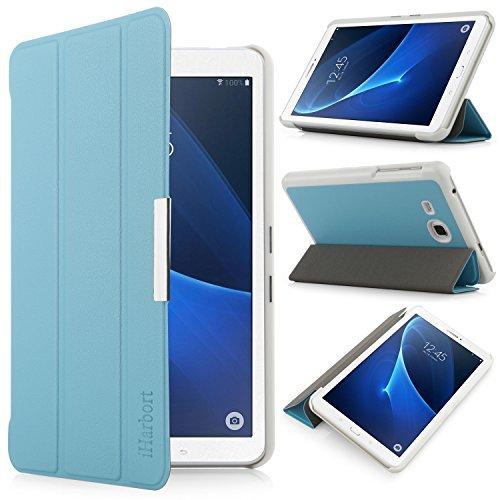 iHarbort® Samsung Galaxy Tab A 7.0 Hülle - Ultra Slim Leder Tasche Hülle Etui Schutzhülle Für Samsung Galaxy Tab A 7.0 Zoll T280 T285 Case Cover Holder,(Galaxy Tab A 7.0, Hellblau)