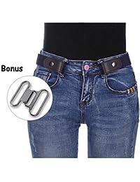 18e0346d2c64 Kajeer Sans boucle Élastique Invisible Ceinture - Élastique Taille Ceinture  Convient jeans pour quotidiens unisexe Pantalon