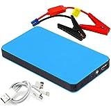 RDT Auto Starthilfe Car Jump Starter 400A Spitzenstrom Portable Externer 20000mAh Power Bank Akku Ladegerät mit Eingebaute LED Taschenlampe-blau