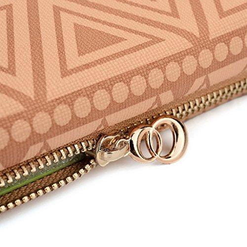 Kroo Tribal Urban Style Phone Case Walllet Clutch fits Samsung Galaxy S III mini Value Edition multicolore Tan Brown Tan Brown