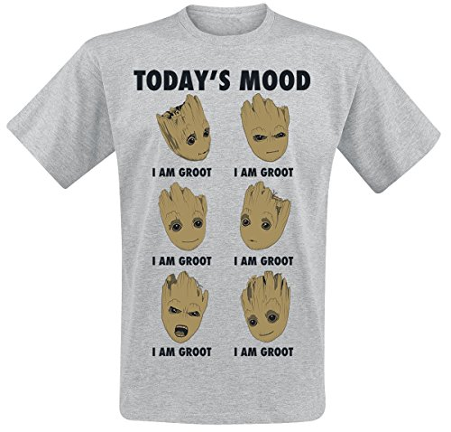 Guardians of the Galaxy 2 - Groot Today's Mood T-Shirt Hellgrau meliert L