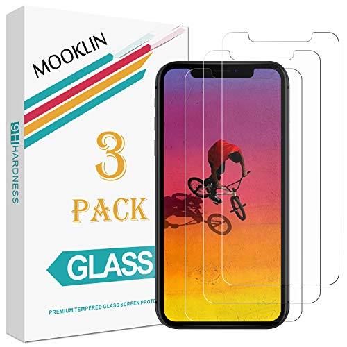 MOOKLIN Panzerglas Displayschutzfolie für Apple iPhone XR, 9H Härte, Anti-Kratzen, Anti-Bläsche, [3 Stück]