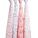 Aden + anais maxi-langes, 100% mousseline de coton, 120cm x 120cm, pack de 4, Petal...