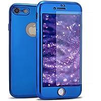 iPhone 8 Hülle,iPhone 7 Hülle,iPhone 7/8 360 Grad Hülle Spiegel + Panzerglas,SainCat Überzug Mirror Effect TPU... preisvergleich bei billige-tabletten.eu
