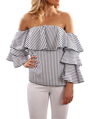blooming-jelly-womens-tops-ruffle-off-shoulder-vertical-stripe-trumpet-chiffon-t-shirt-blouse