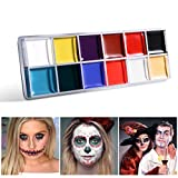 NUOLUX 12in1 Flash Colors Face Body Oil Painting Art Make Up Party Fancy Dress Artist Palette