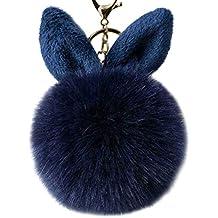 TOYMYTOY Ciondolo portachiavi con portachiavi in pelliccia (blu ... a259748a8086