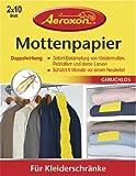 Aeroxon Mottenpapier 45442, geruchlos, 20 Blatt