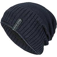 Malloom-Gorra de Invierno de Lana de Felpa Unisex Knit Cap Sombrero para la Cabeza de Cobertura Gorro de Gorro Cálido Sombrero de Moda al Aire Libre