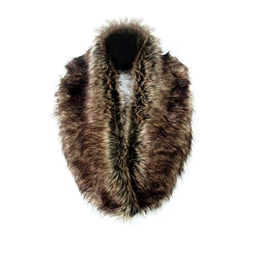 Pelzkragen Faux-Pelz Shrug Fluffy Warme Winter-Schal für Damen - Faux-pelz-schal Braun
