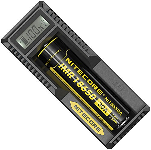 NITECORE Ladegerät USB, Schwarz, One Size,