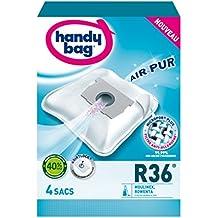 Handy Bag - R36-4 Sacs Aspirateurs, pour Aspirateurs Moulinex et Rowenta, Fermeture Hermétique, Filtre Anti-Allergène