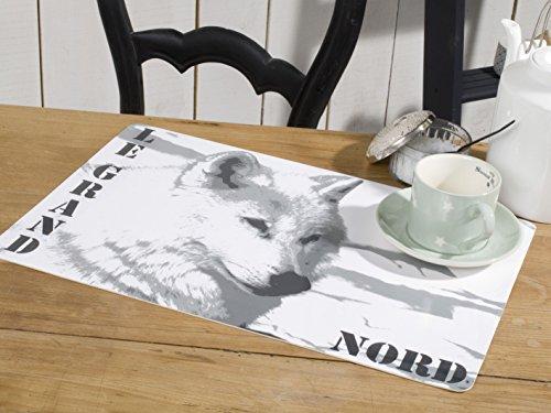 CALITEX Le Grand Nord PVC, Blanc, 44x28 cm