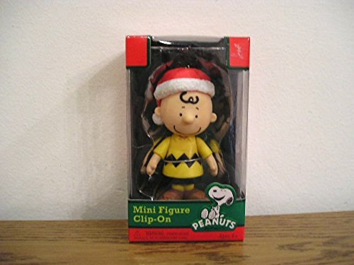 Peanuts Charlie Brown Santa Hat Christmas Holiday Clip on Ornament Figure Forever Fun by Peanuts