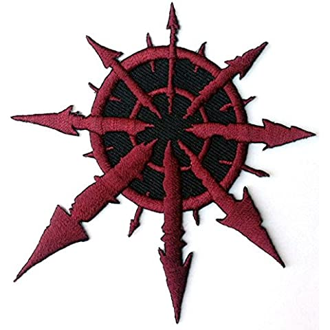Red Chaos star of indivisa Warhammer 40,000 8,89 cm Logo Patch