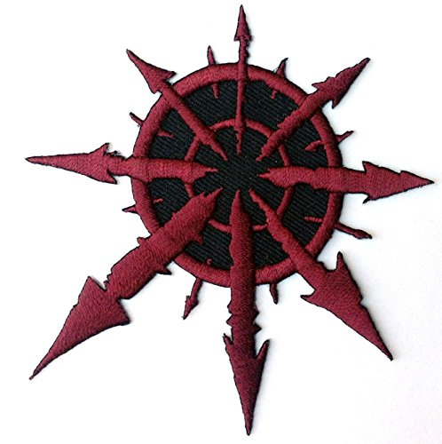Red Chaos star of Undivided Warhammer 40,000 3.5 Inches Aufnäher Patch