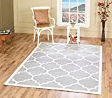 A2Z RUG Trellis Rugs Silver 120x170 cm - 3'9''x5'5'' ft Trendy Collection Area Rug