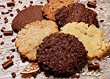 Protein Kekse 18 Stück Mix Box aus 4 Sorten | zuckerfrei, 30% Eiweiß | Snack Cookie Riegel | als Mahlzeitenersatz und Energieriegel für Muskelaufbau und Abnehmen | Low Carb Superfood Cookies
