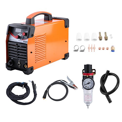 ICOCO CUT40D Plasmaschneider Weldinger Schweißgerät Plasma Cutter 220V 40 Amps Schweißer mit Elektro Druck Digitalanzeige (Orange)