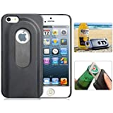 SHOPINNOV Coque iPhone 5 5S Decapsuleur Ouvre bouteille Noire