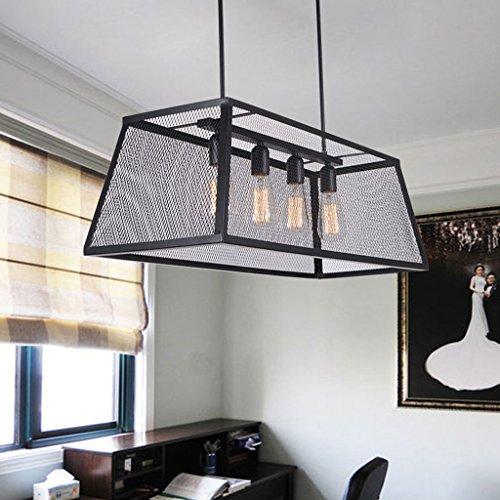 SX-BBF Pendentif Luminaire Rectangulaire Fer Rétro Style Industriel Pendentif Lampe Salon Lampe Salle À Manger Pendentif Lumière Chambre Luminaire (Couleur : Le jaune)