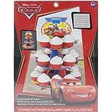 Wilton–stand-cars (30,4x 16.25-inch con capacidad para 24cupcakes, otros, multicolor