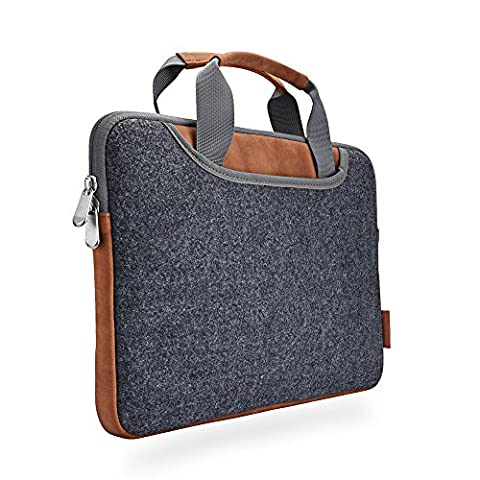 Laptop Sleeve XIAO QIAO Portable Laptop Tasche für 15-15,6 Zoll MacBook Pro, Dell HP, schlanke Schutzhülle, dunkelgrau (15 inch, dark gray)