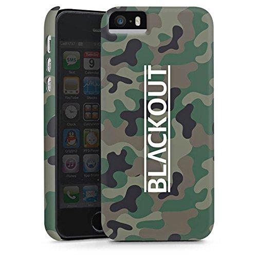 Apple iPhone 5s Hülle Premium Case Cover Blackout Logo Youtuber