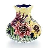 "Old Tupton Ware Art Deco ""Summer Bouquet"" Design 3"" Vase"
