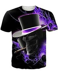 ❤️Tops Blouse Homme T-shirt, Amlaiworld Taille plus Tops Pull Réaliste Imprimé 3D T-shirt Manches Courtes Tee Blouse Hommer Boxer