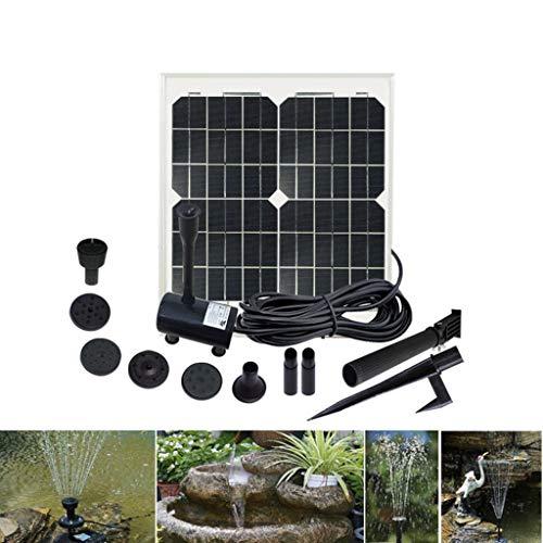 LY-LD Solarbrunnen 30W Gratis-Standing-Wasser-Brunnenpumpen Kit mit 7 verschiedenen Spraymuster Köpfe für Vogelbad, Fischbehälter -