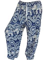 by soljo - Pantalon pantalons de loisirs sportifs pantalon Elephant bleu