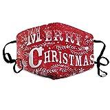 Unisex Mundmaske für Weihnachten, Urlaub, Grippe, Filter, halbes Gesicht, Ohrschlaufen, chirurgische Masken für Outdoor Radfahren