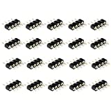 VIPMOON 40pcs 4 Pin Male to Male RGB 5050 3528 LED Strip Lights Connectors