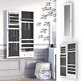 Schmuckschrank Spiegelschrank abschließbar Hängeschrank Schmuckkasten Wandspiegel Wandmontage Louanne