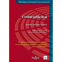 L'intérêt public local - 1re édition