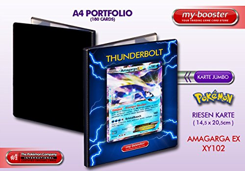 my-booster Portfolio Pokemon AMAGARGA EX XY102 180KP XY12 - 180 Karten einzuordnen - Format A4 Album Binder (Karten Album Ex Pokemon)