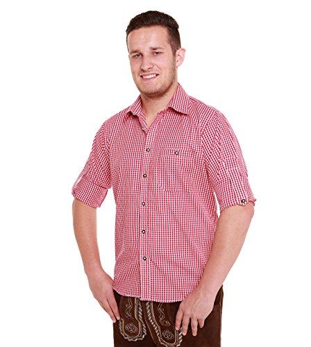 Trachtenhemd (XL, Rot)