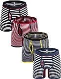 Emil Comfort Stripe Boxer Briefs Cotton Colorful mens underwear