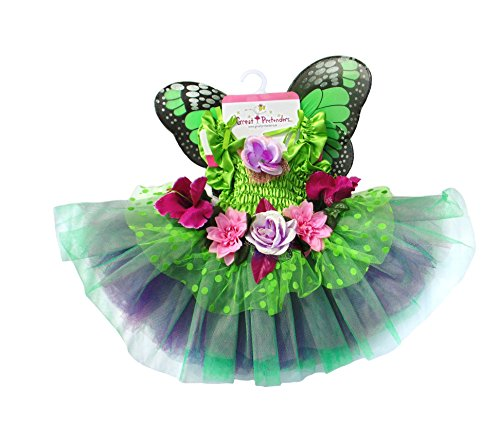 Fairy Dress Kostüme Up (Great Pretenders Fairy Blooms Deluxe Kleid mit Flügeln, grün,)