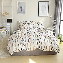 Unimall Funda Nordico para cama 90, I*Pieza Funda (155*210cm)de Edredon con dos Funda de Almohada de (50 x75cm), Tres Piezas de Ropa para Cama 100% Algodón