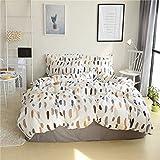 Unimall 3 TLG. Renforce Bettwäsche 150 x 200 cm Baumwolle Ganzjahres & 4-Jahreszeiten mit Feder Musterung