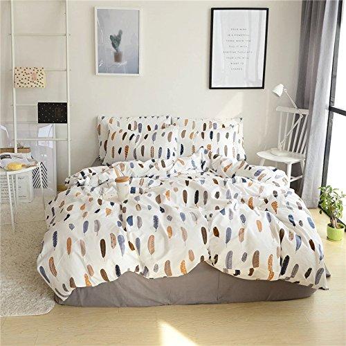 Unimall Funda Nordico para cama 90, I*Pieza Funda (155*210cm)de Edredon con dos Funda de Almohada de (45 x74cm), Tres Piezas de Ropa para Cama 100% Algodón
