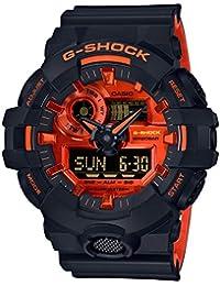 Casio Analog-Digital Orange Dial Men's Watch-GA-700BR-1ADR (G918)